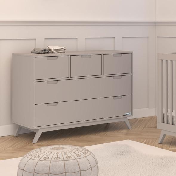 Dadada Soho Collection 5 Drawer Dresser in Gray