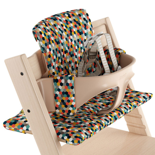 Stokke Tripp Trapp Classic Cushion in Honeycomb Happy OCS