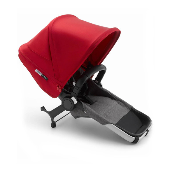 Bugaboo Donkey3 Duo Extension Complete in Alu/Grey Melange-Red