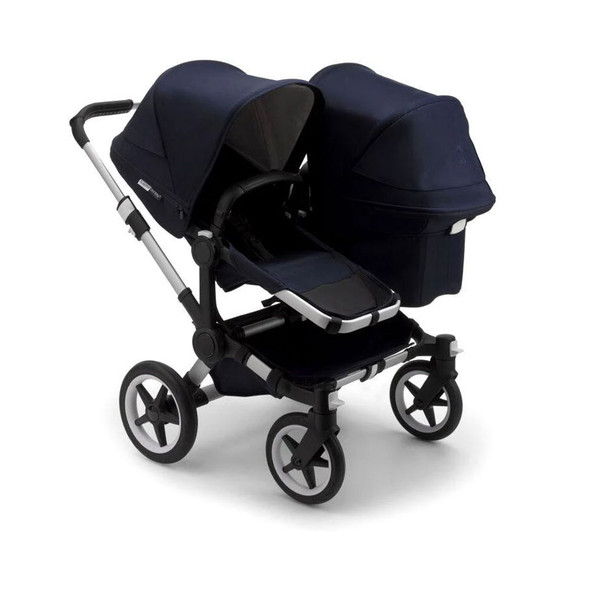 Bugaboo Donkey3 Classic Duo Extension Complete in Alu/Dark Navy