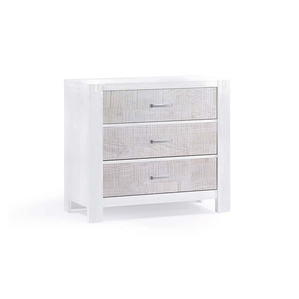 Natart Rustico Moderno 3 Drawer Dresser in White and White Bark