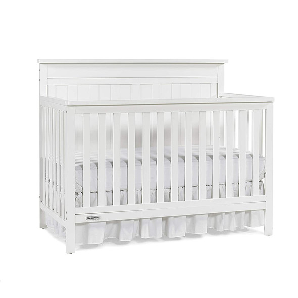 Fisher Price Clayton Convertible Crib in Snow White