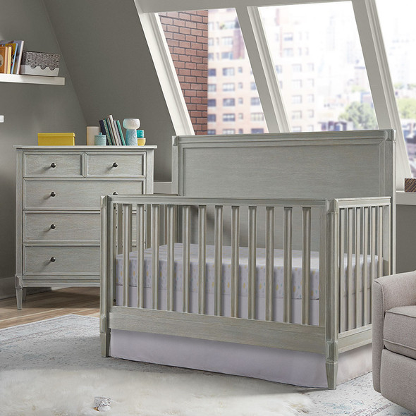 Westwood Vivian 2 Piece Nursery Set - Convertible Crib and 4 Drawer Chest in Dawn