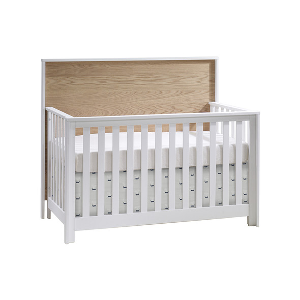 NEST Vibe ''5-in-1'' Convertible Crib  (w/out rails) in White/Natural Oak
