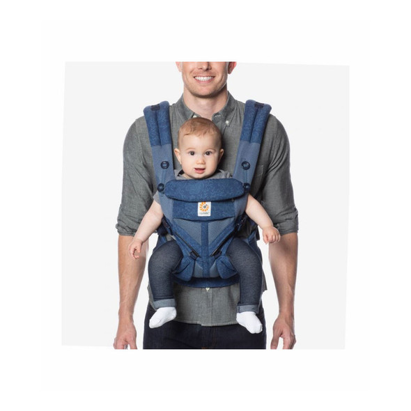 Ergobaby Omni 360 Cool Air Mesh Baby Carrier in Blue Blooms