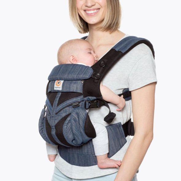 Ergobaby Omni 360 Cool Air Mesh Baby Carrier in Indigo Weave