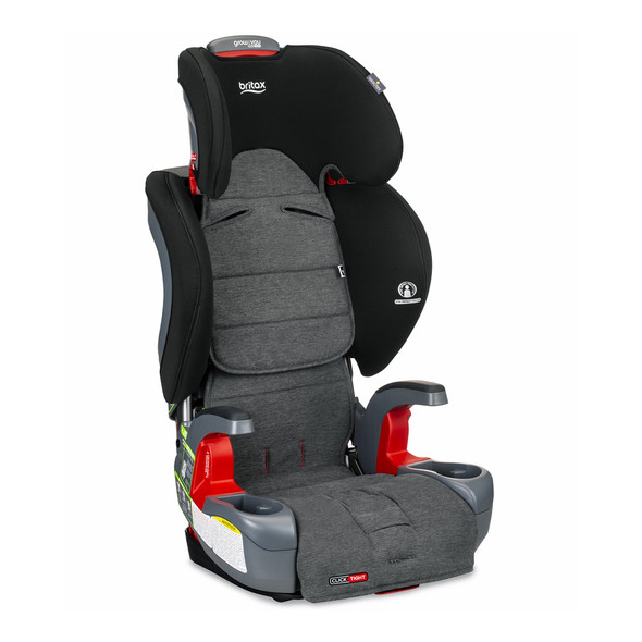 Britax Grow With You Clicktight Harness Booster Car Seat in StayClean Gray