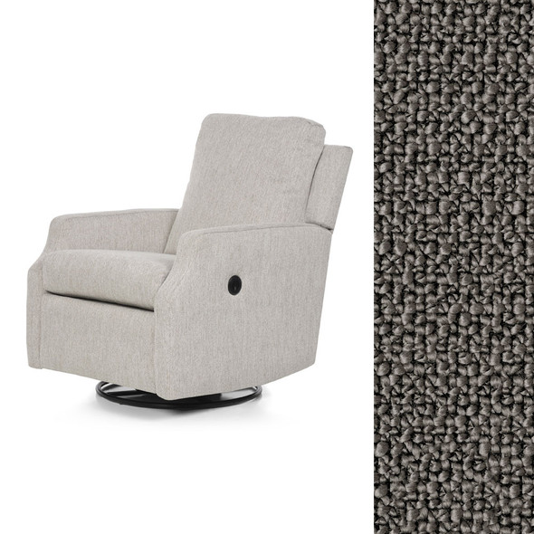 Oilo Harlow Glider w/ Power & USB in Pebble Charcoal
