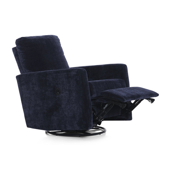 Oilo Drew Recliner w/ Power & USB in Gentle Slate