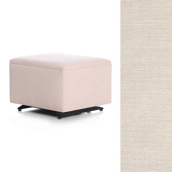 Oilo Ottoman no Skirt in Melton Pebble