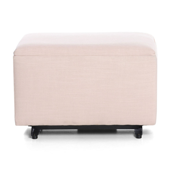 Oilo Ottoman no Skirt in Canvas Putty