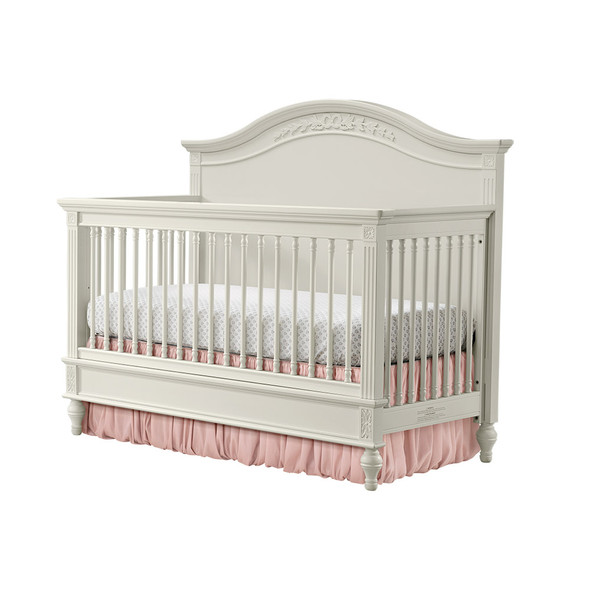 Stella Baby and Child Arya 2 Piece Nursery Set - Convertible Crib and 7 drawer Dresser in Parchment