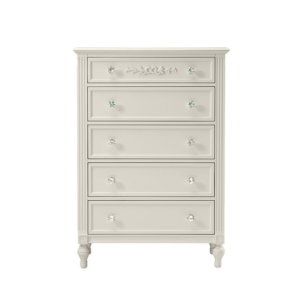 Stella Baby and Child Arya 5 Drawer Chest in Parchment