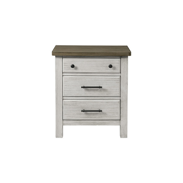 Westwood Timber Ridge Collection Nightstand in Weathered White and Sierra