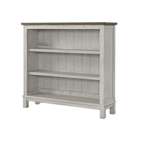 Westwood Timber Ridge Collection Hutch Bookcase in Weathered White and Sierra