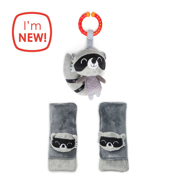 Diono 2020 Harness Soft Wrap & Linkie Toy in Racoon