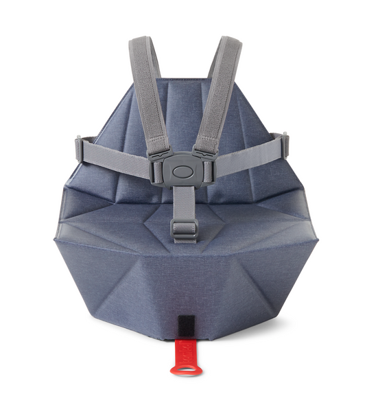Bombol Pop-Up Booster - Denim Blue + Seat Cover Carry Bag USA