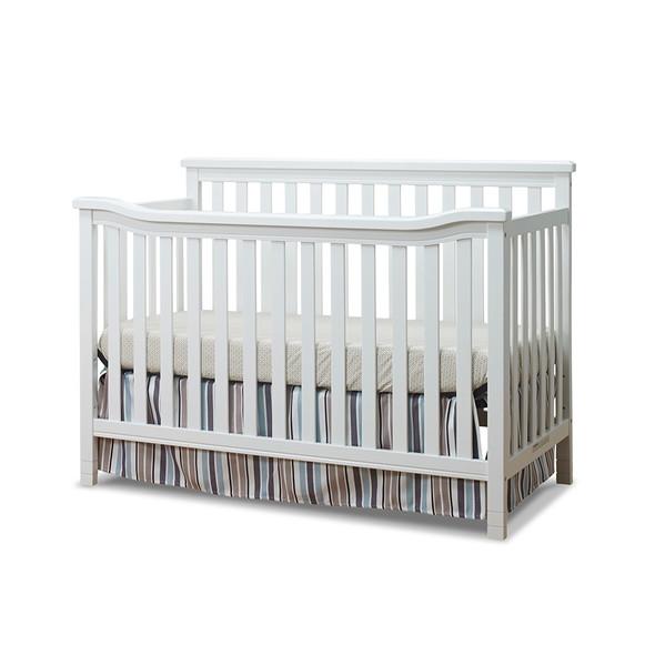 Sorelle Berkley Flat Top Crib in White