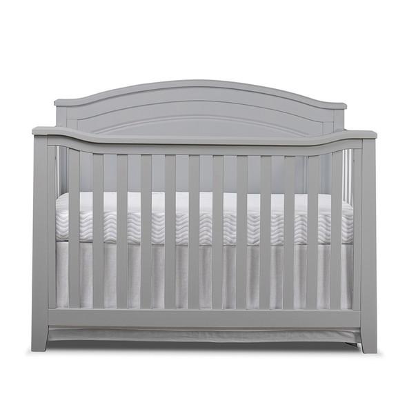 Sorelle Berkley Round Top Panel Crib in Gray