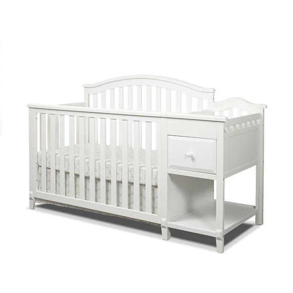 Sorelle Brittany Crib & Changer in White