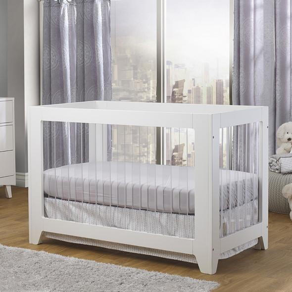 Sorelle Soho Acrylic Crib in White