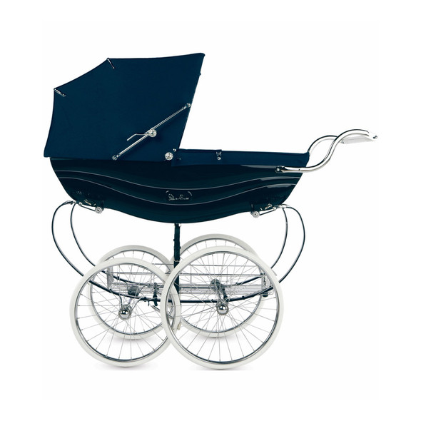 Silver Cross Balmoral Pram Stroller in Navy