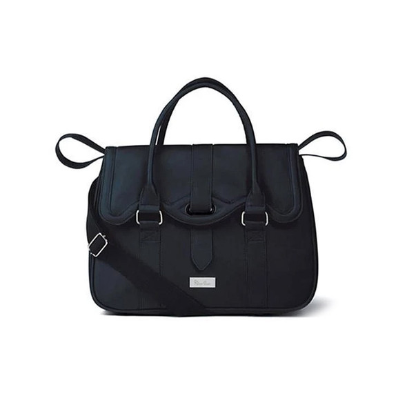 Silver Cross Balmoral / Kensington Dual Accessories Leatherrette Diaper Bag - Navy