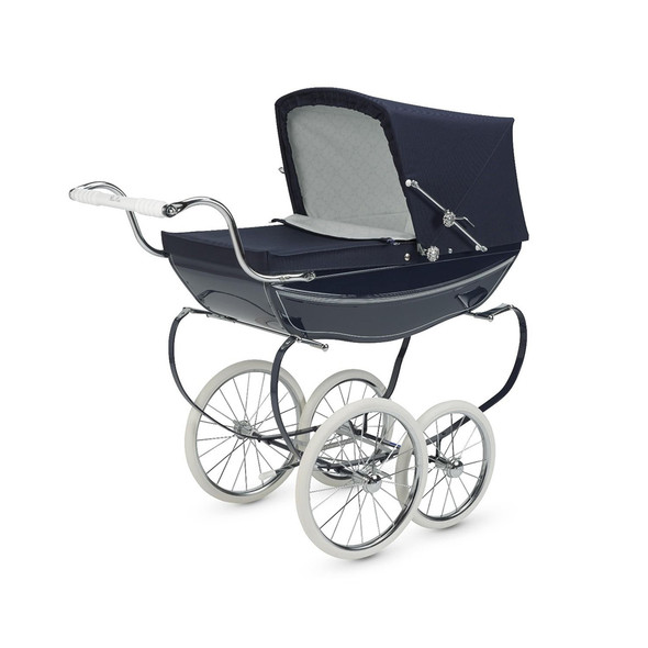 Silver Cross Hand Crafted Princess Dolls Pram Stroller in All Navy