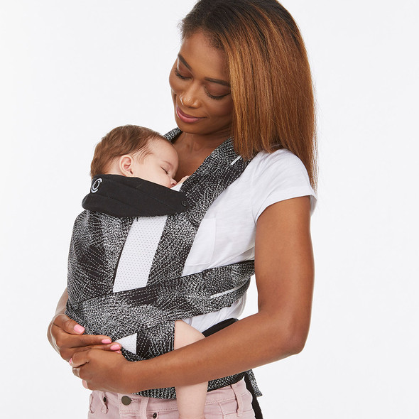 Kolcraft Contours Cocoon Hybrid Buckle Tie 5-in-1 Baby Carrier in Galaxy Black