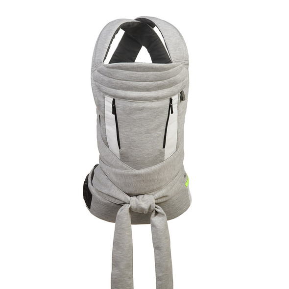 Kolcraft Contours Cocoon Hybrid Buckle Tie 5-in-1 Baby Carrier in Heather Grey