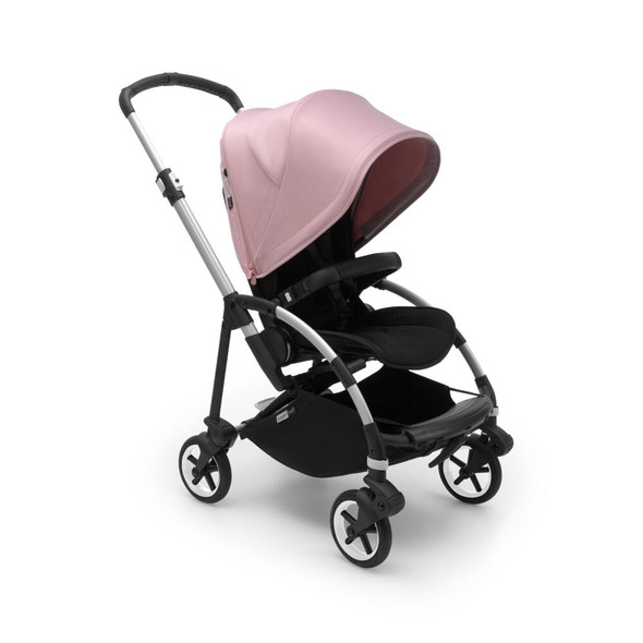 Bugaboo Bee6 Complete Stroller in Alu/Grey-Soft Pink
