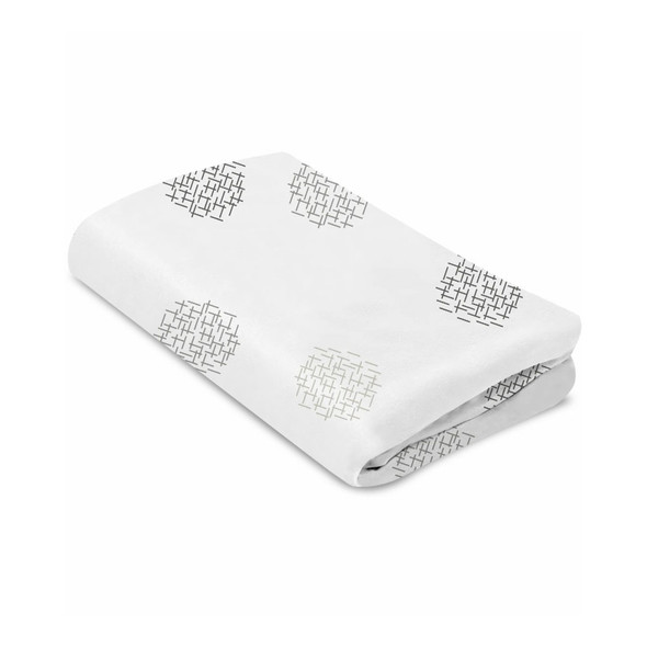 4Moms MamaRoo Sleep Cotton Bassinet Sheets in White Crosshatch