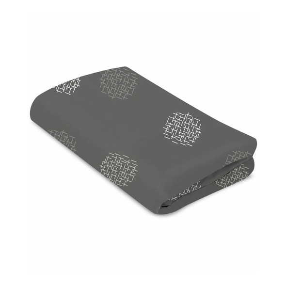 4Moms MamaRoo Sleep Cotton Bassinet Sheets in Grey Crosshatch