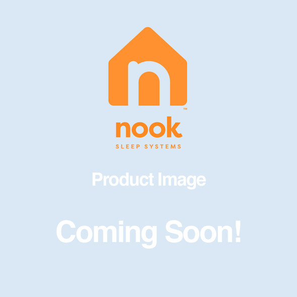 Nook Pebble Organic Crib Mattress Cover- Blush
