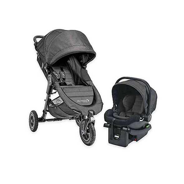 Baby Jogger City Mini GT Single Travel System in Charcoal BBB Excl
