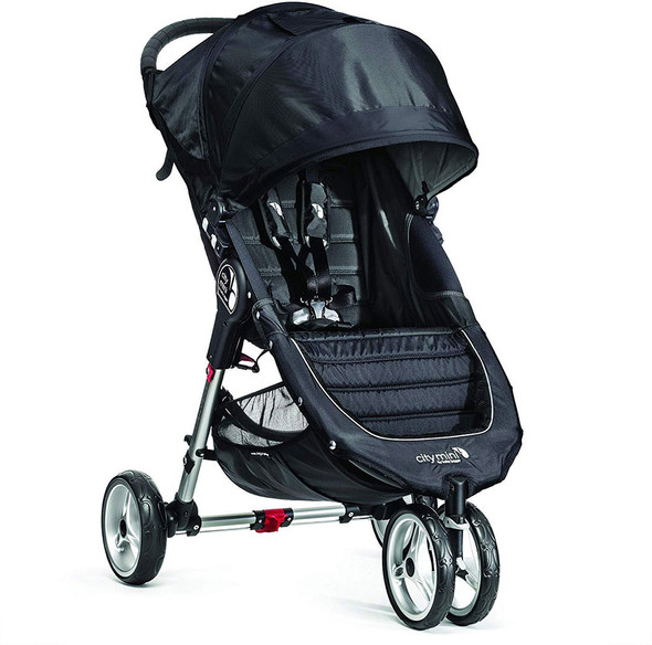 Baby Jogger City Mini Single Travel System in Black and Gray