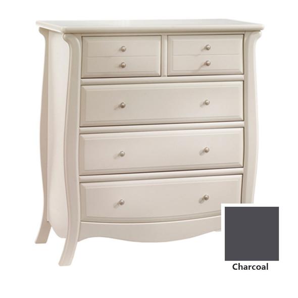 Natart Bella 5 Drawer Dresser in Charcoal