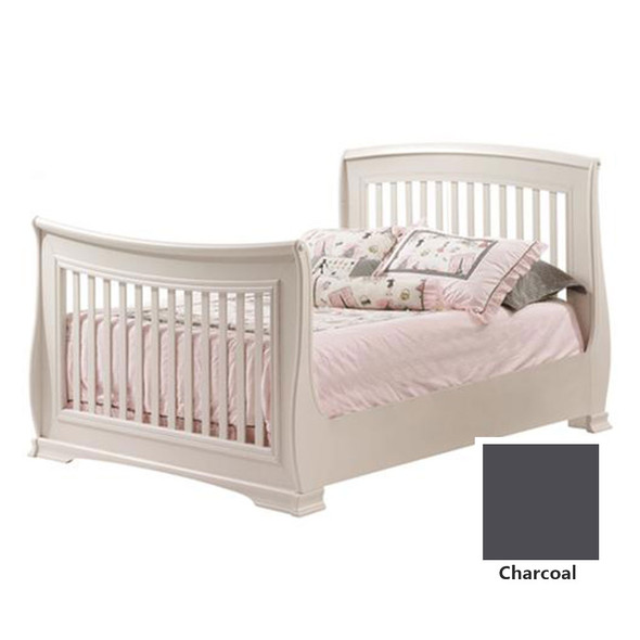 """Natart Bella Double Bed 54"""" (w/rails) in Charcoal"""
