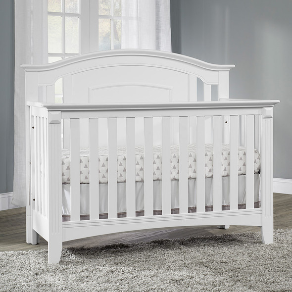 Oxford Baby Willowbrook 4 In 1 Convertible Crib White
