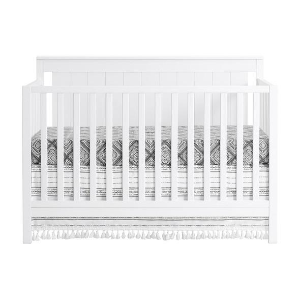 Oxford Baby Lazio 4 In 1 Convertible Crib Snow White