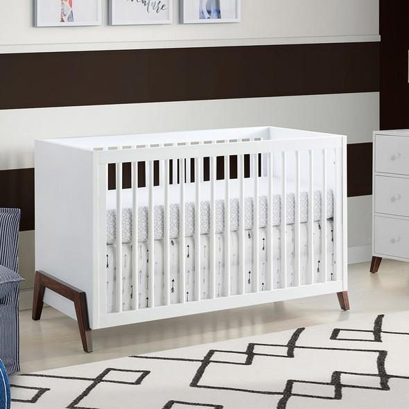 Oxford Baby Mari 3 In 1 Crib White / Brown