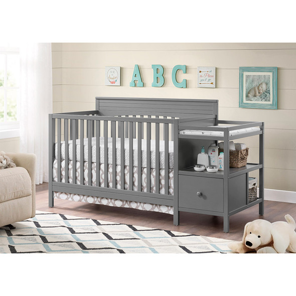 Oxford Baby Harper 4 In 1 Crib And Changer Dove Gray