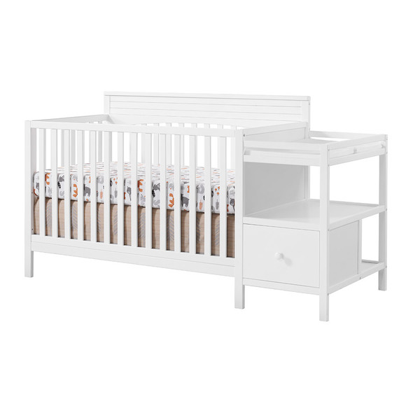 Oxford Baby Harper 4 In 1 Crib And Changer Snow White