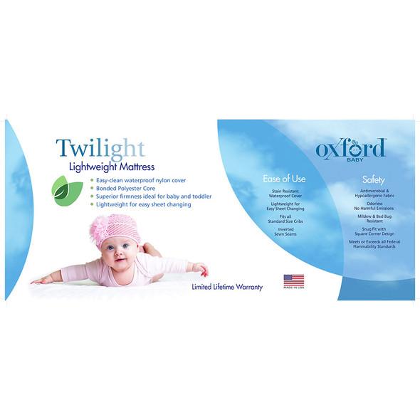 Oxford Baby Twilight Lightweight Crib & Toddler Mattress