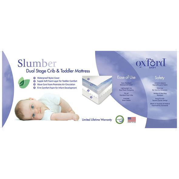 Oxford Baby Slumber Dual Stage Crib & Toddler Mattress-Supple Soft