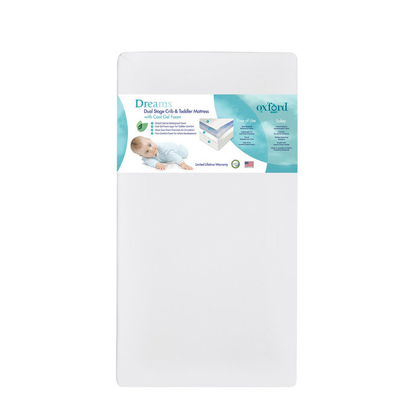 Oxford Baby Dreams Dual Stage Crib & Toddler Mattress With Cool Gel