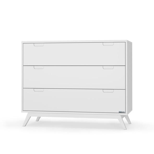 """Dadada Village 40"""" 3 Drawer Dresser in White"""