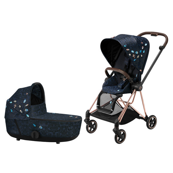 Cybex Mios Bundle - Jewels of Nature (Rose Gold Mios Frame, Seat Pack, Cot)