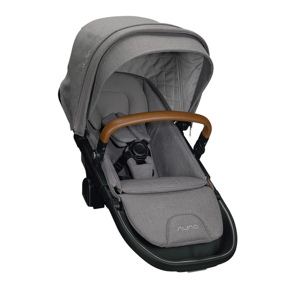 Nuna Demi Grow Sibling Seat + Raincover + Magnetic Buckle in Frost
