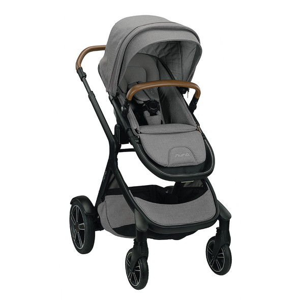 Nuna Demi Grow Stroller in Frost – Left Angle View